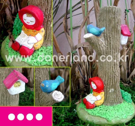 숲속의 빨간 모자 소녀